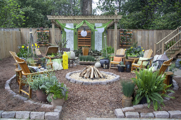 Wonderful Rustic Landscape Designs Only For Your Eyes on Rustic Backyard Ideas id=23946