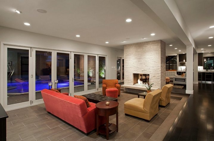 Awesome Double Sided Fireplaces As Stylish Room Dividers