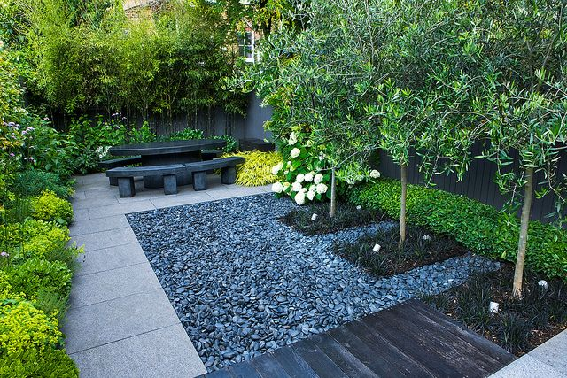 How To Beautify Your Yard With Black Pebbles on Backyard Pebbles Design id=71733