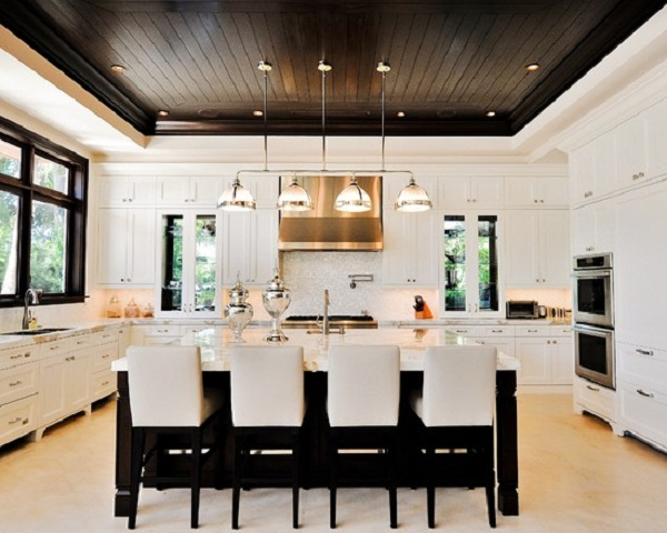 Wood Ceilings Give A Warm Look To Your Kitchen