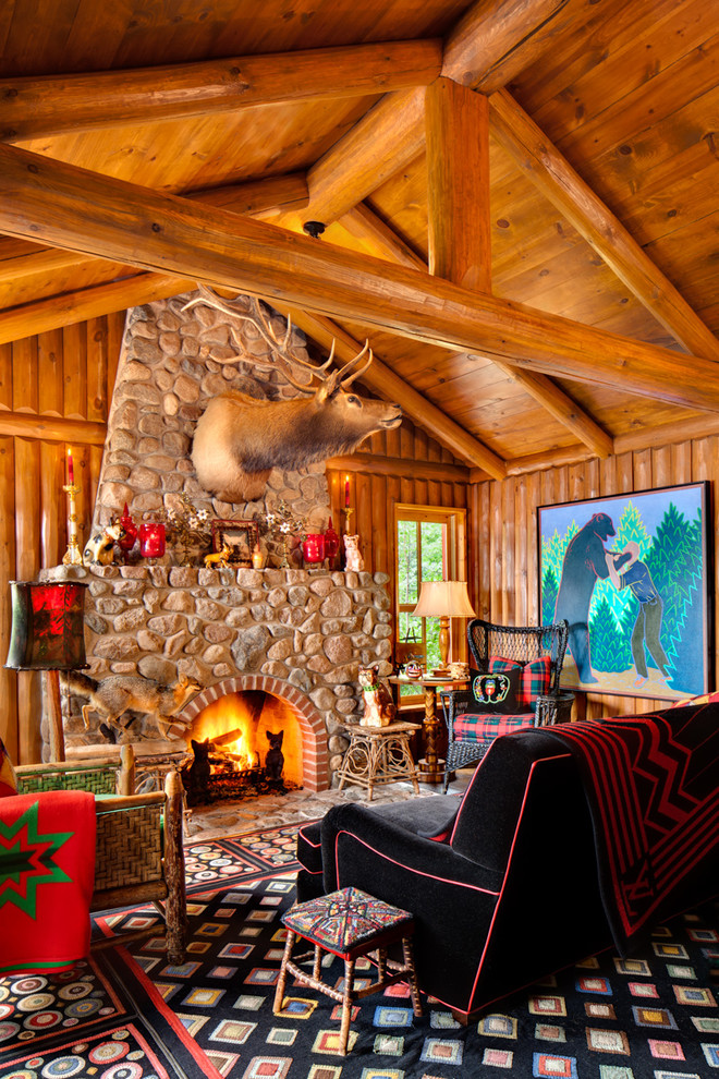 Cozy And Warm Log Cabin Living Rooms You Will Fall In Love With