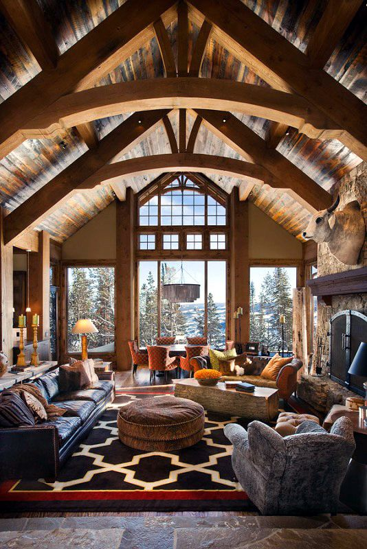 Cozy And Warm Log Cabin Living Rooms You Will Fall In Love ... on Teenage:rfnoincytf8= Room Designs  id=12324