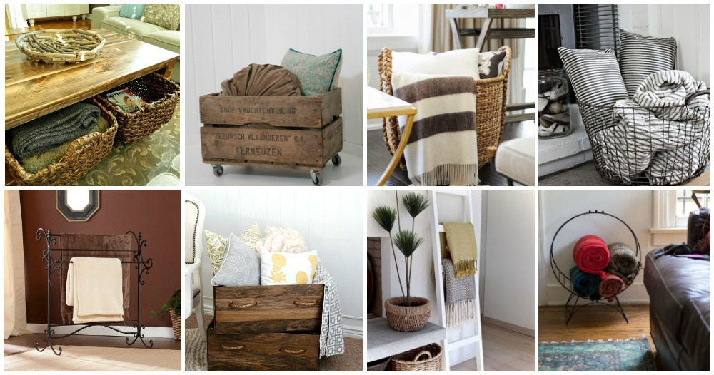 How To Store Blankets In The Living Room In A Cool Way