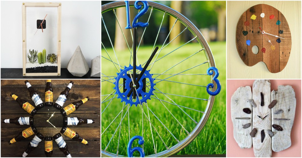 Brilliant Diy Clock Ideas With Recycled Items That Will