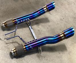 unobtainium race straight pipes exhaust system 3 5 inch titanium for mclaren 720s
