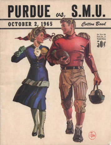 Purdue vs. SMU Program Cover (1965)
