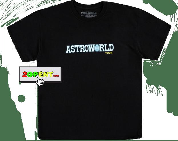 Travis Scott Astroworld Tour SS19 T-Shirt Black