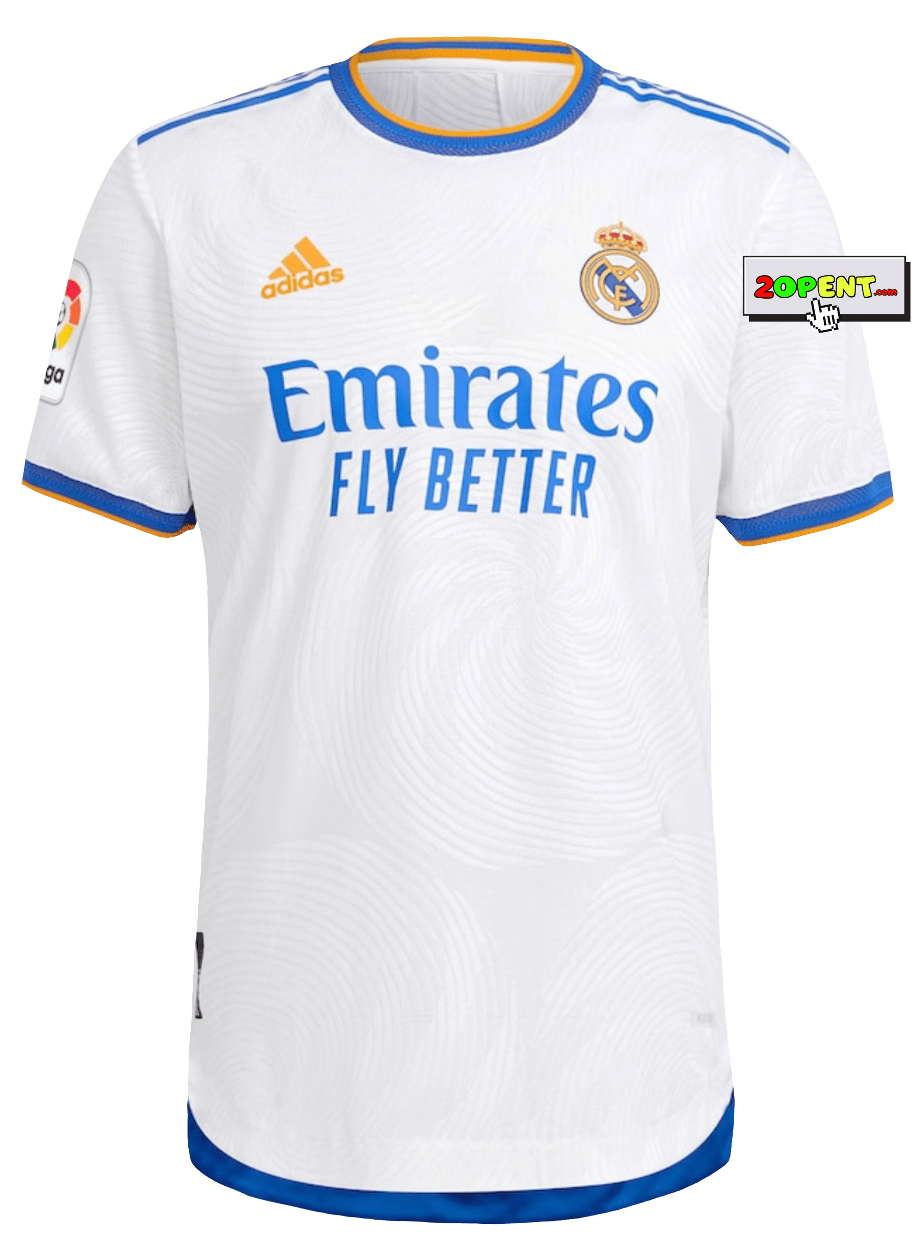 Real Madrid Jersey Adidas 2021 Home Authentic Playera White