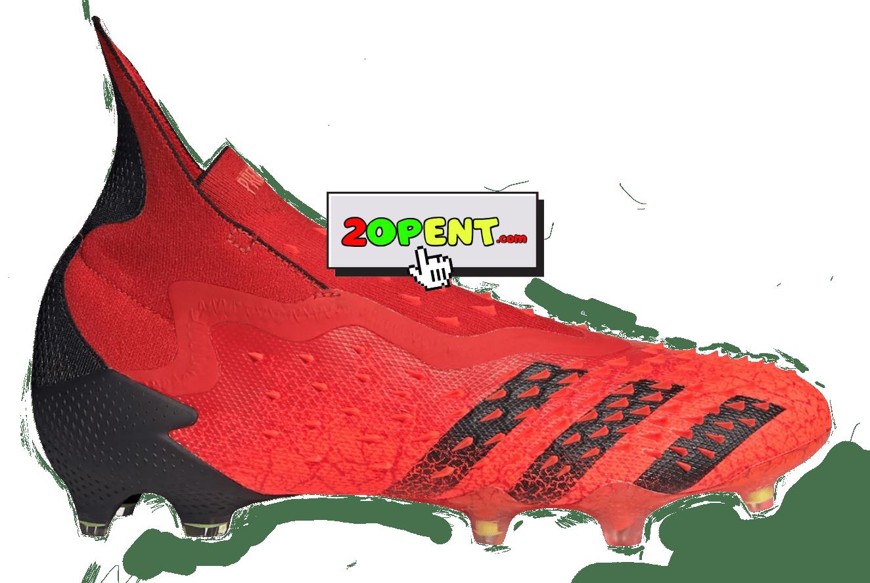 Adidas Predator Freak FG Soccer Cleats 2021 Red Black
