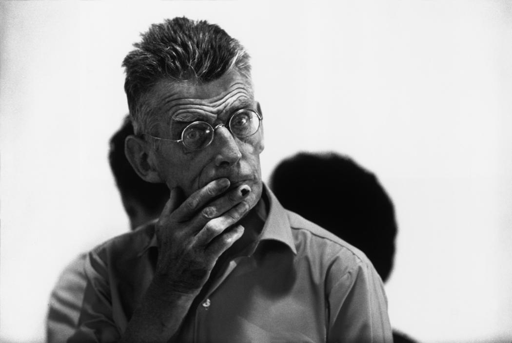 "USA. New York City. 1964. Samuel BECKETT during the rehearsal of ""Waiting For Godot"". ©Bruce Davidson/Magnum Photos"
