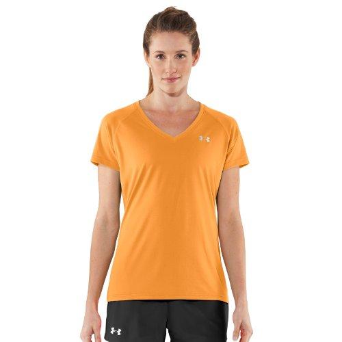 Under Armour UA Tech SS V-Neck Women's T-Shirt - M, Orange ...