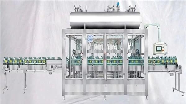 Pesatura della macchina di riempimento rotativa per oli lubrificanti