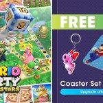 Reino Unido: cuando hagas un pedido anticipado de Mario Party Superstars en My Nintendo Store, recibirás un juego de posavasos y un llavero Birdo.