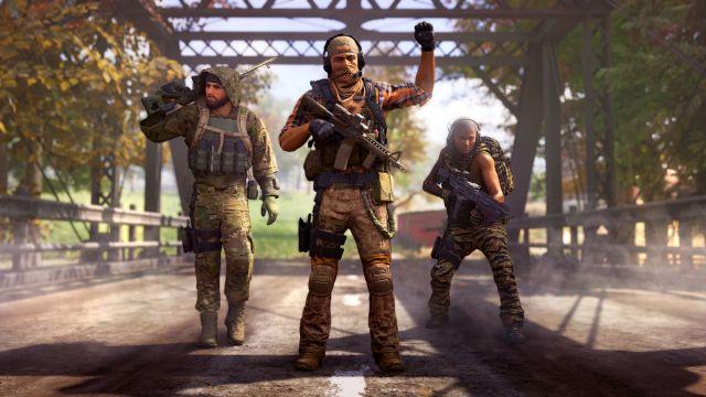 Ghost Recon Frontline: soldados en fila