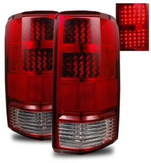 Dodge Nitro 20072012 Red and Clear LED Tail Lights