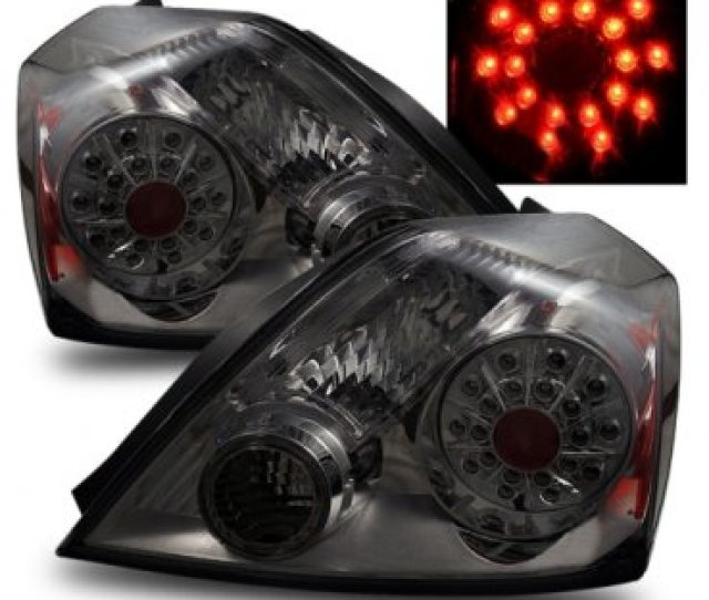 Nissan Altima Coupe 2008 2010 Led Tail Lights Smoked