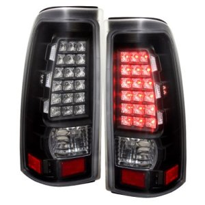 GMC Sierra 3500 20012006 LED Tail Lights Black and Clear