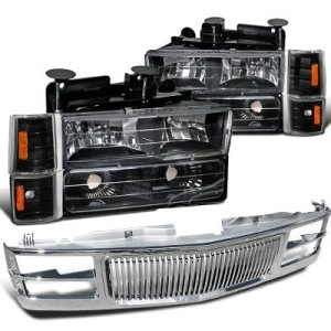 Chevy 1500 Pickup 19941998 Chrome Vertical Grille and