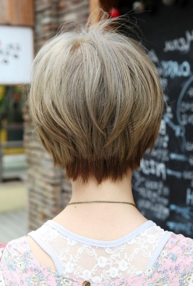 Short Layered Haircuts For Women Front And Back View