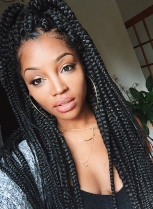 79 Sophisticated Box Braid Hairstyles With Tutorial Big Braid Hairstyles Big Braid Hairstyles
