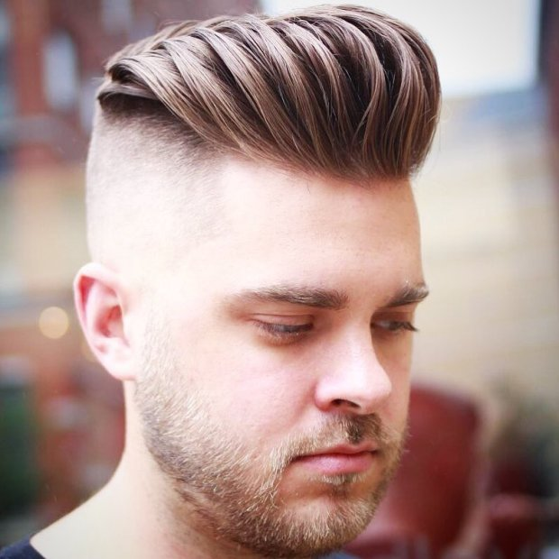 High Fade Messy Spiky Haircut Men 2018