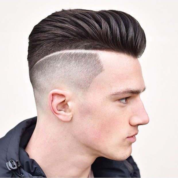 Sharp Fade Short Hairstyle For Men 2018