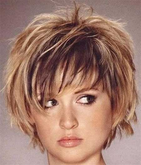 Short Hairstyles For Round Faces 2018 2