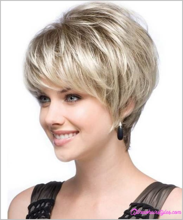 Best And Cute Haircut For Round Faces And Thin Hair Of Short