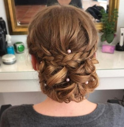 10 Long Hair Prom Chignon Updo