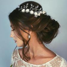 10 Low Wedding Updo With A Brown