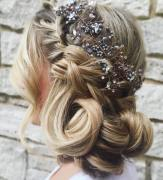 11 Wedding Updo With Crown Braid