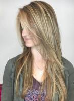 12 Straight Fine Brown Hair With Blonde Highlights