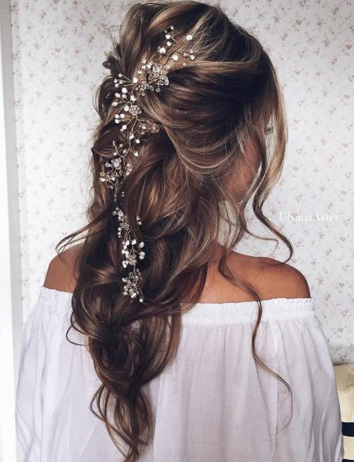 13 Loose Wedding Half Updo Hairstyles Fashion And Clothing