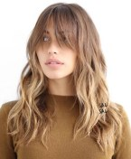 14 Light Brown Layered Hairstyle With Bangs