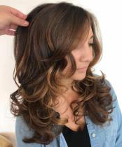 20 Long Layered Curled Hairstyle