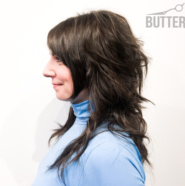 33 Neat Front Shaggy Back Hairstyle