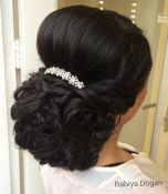 4 Curly Wedding Updo With A Bouffant For Thick Hair