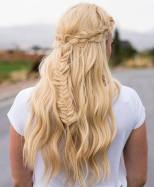 7 Half Updo With Crown Braid And Fishtail