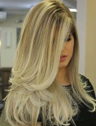 7 Long Blonde Ombre Blowout Hairstyle