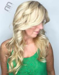 9 Curly Long Blonde Hairstyle