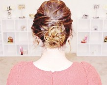 9 Sweet Disheveled Updo For Curly Hair