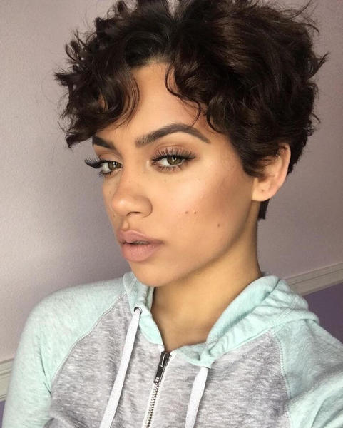 Bangs With Curly Pixie Cut