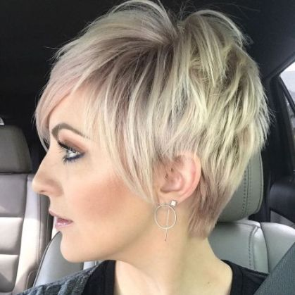 1 Disconnected Blonde Balayage Pixie