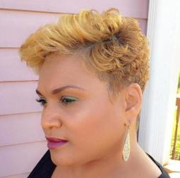 12 African American Short Curly Blonde Hairstyle