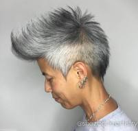 15 Asian Salt And Pepper Fauxhawk For Women