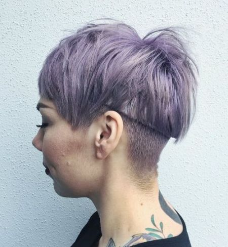 16 Pastel Purple Undercut Hairstyle