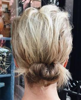 17 Low Messy Updo For Short Hair