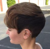 17 Very Short Twotone Brown Hairstyle