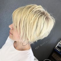 18 Finely Chopped Buttery Blonde Pixie