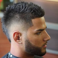 Burst Fade Mohawk Line Up Fresh Beard Design